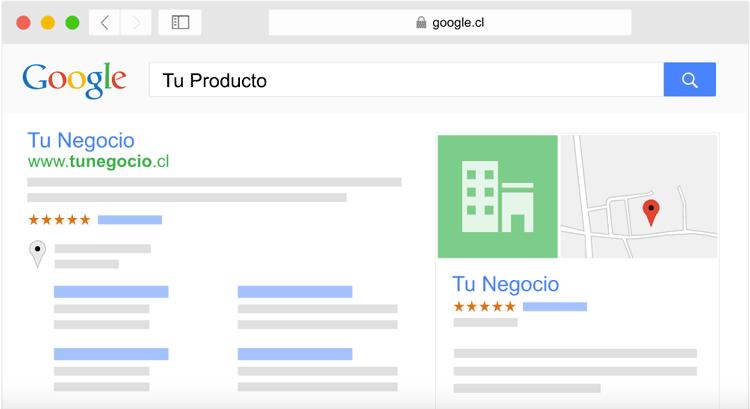 página web en Google